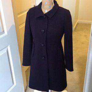 J Crew deep purple dress coat!
